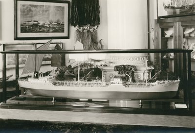 Modellfartyg i Kalmar sjöfartsmuseum.