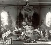 Begravningsgudstjänst i Hjorteds kyrka.