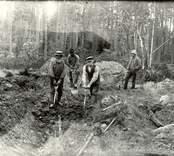 Skogsarbetare i Basebo 1921