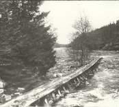 Timmerränna vid Kvarnbro 1911.