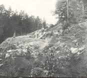 Vägbygge i Hjorted 1932.