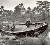 Storbåten Teresia av Tallholmen, som ägdes av Gerhard Andersson.
