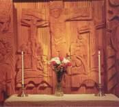 Altaret i  S:t Johannes kapell. Kyrkan invigdes 1973.