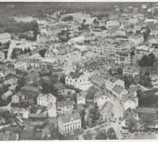 Flygfoto över centrala Oskarshamn.