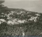 Flygfoto över S:ta Gertruds sjukhus beläget vid Gamlebyviken. .