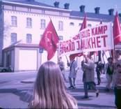 Första maj, med demonstration mot Vietnamkriget, Västervik1971