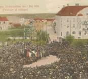 Oskarshamn Posthuset , Oskarshamns 50-års-jubileum den 1 Maj 1906 (Föredraget på midagen)