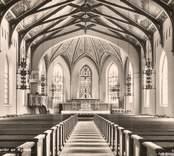 Oskarshamn, interiör av kyrkan.