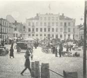 Torghandel på Lilla torget i Oskarshamn.