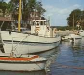 Utflyktsbåten, före detta trålaren Ringskär vid Skeppsbrokajen.