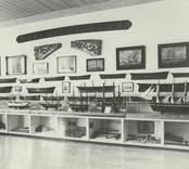 Utställning med fartygsmodeller på Kulbackens museum i Västervik.