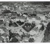Vy över Stortorget i Oskarshamn.