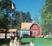 Vykort med motiv från sommarhemmet Gläntan i Västervik.