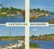 Vykort med motiv från Västervik.