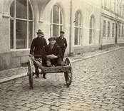 Östra Torggatan utanför Telegrafhuset i Oskarshamn