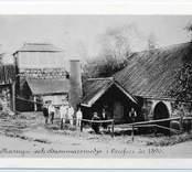 Masugnen och hammarsmedjan i Orrefors i slutet på 1800-talet.