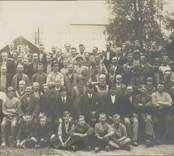 Arebetare vid Alsterbro glasbruk.