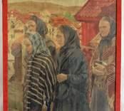 Fiskarkvinnor på väg från kyrkan [Tavla]