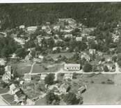 Flygbild över Mörtfors.