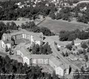 Vy över bostadsområdet Stjärnhus ( Riksbyggen ) i Oskarshamn.