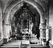 Interiör från Gärdslösa kyrka.
