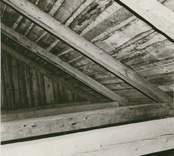 Detalj av taket i norra längan.