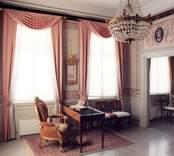 Fredriksbergs herrgård, interiör från övervåningen, rum 202.