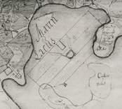 Karta över Maråker, Sundsholm från 1691.