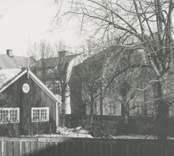 Byggnader vid Fabriksgatan i Nybro.