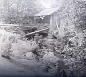 En vattensåg vid en å i Hälsingsö.