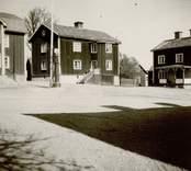 Bostadshus och torg i Lunds by.