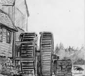 Emsfors, teckning av Nils Kreuger 1876.
