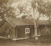Småland, Kalmar län, Misterhults socken - Grönö. Stuga förvärvad av sockens hembygdsförening för flyttning till plats vid kyrkan. Se uppmätning! Foto: D. Myhrman.