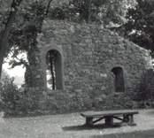 Småland, Kalmar län, Västervik kommun, Gamleby sn, Gamleby. Gamleby kyrka: Kyrkoruin.