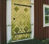 Hägerums gård. Mejeriets dörr, dörrpanel