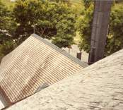Spåntaket på Hjorteds kyrka.