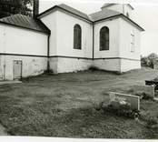 Motiv från Hälleberga kyrka innan branden 1976.