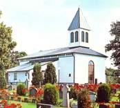 Vykort med motiv från Hälleberga kyrka.