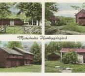 Vykort med motiv från  hembygdsgården i Misterhult.