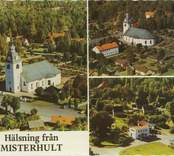 """Dominerande stilepok, exteriör:Gustaviansk Dominerande stilepok, interiör: Gustaviansk Uppförande hela kyrkan:1777-1780 Vykort """"Hälsning från Misterhult"""""""