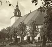 Vykort med motiv från Odensvi kyrka.