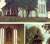 Vykort med motiv från Oskars kyrka.