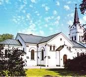 Vykort med motiv av Västra Eds kyrka.