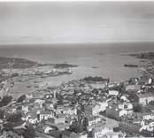 Flygfoto över Oskarshamn.