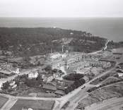 Flygfoto över SAFT Nife AB i Oskarshamn.