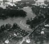 Översvämning i Emsfors 1935.