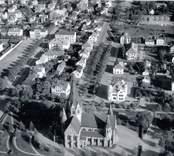 Flygfoto över Västervik. Brevik.