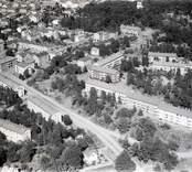 Vy över bostadsområde i Oskarshamn                             .