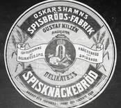 Oskarshamns spisbrödsfabrik, paketetikett.