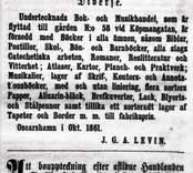 Annos i tidningen hermoder oktober 1861.